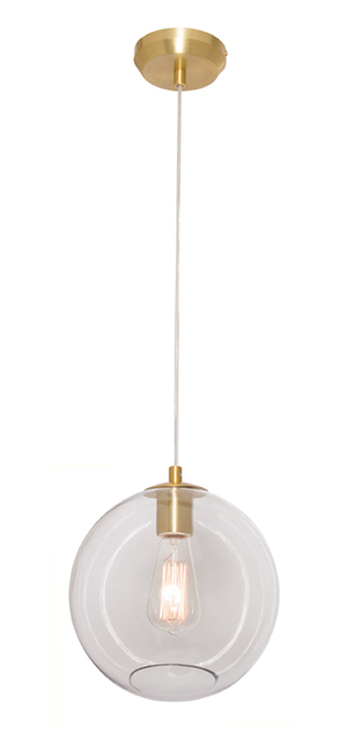 Milan 1 Light Pendant Light in Brass