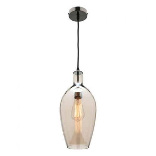 Drop Glass Pendant Light in Cognac Shade