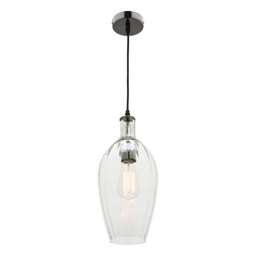Drop Glass Pendant Light in Clear Shade