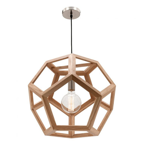 Peeta Natural Timber Pendant Light Large
