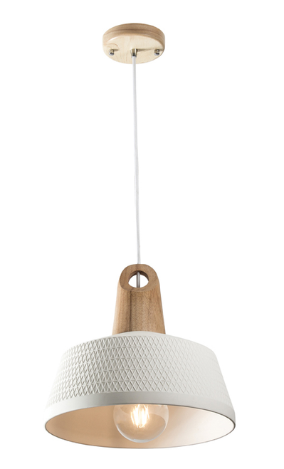 Morrissey Ceramic Timber Pendant Light Large