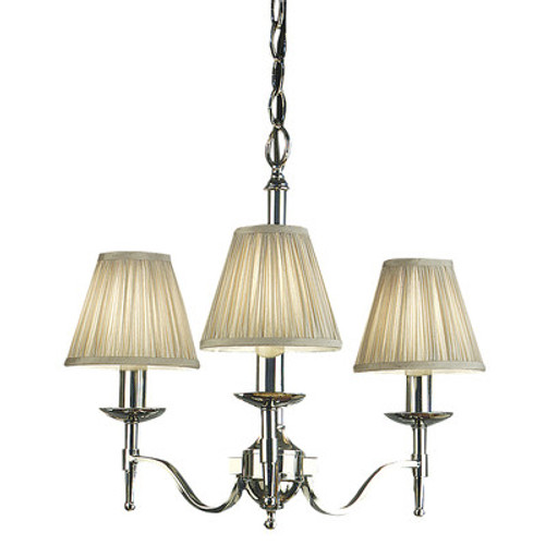 Stanford 3 Light Nickel Chandelier by Viore Design
