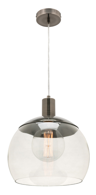 Tammy Glass Metal Pendant Light in Pewter