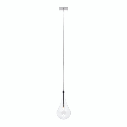 Raindrop 1 Light Glass Pendant Light