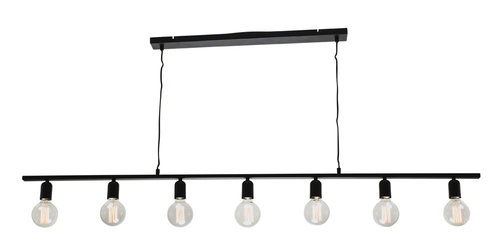 Industrial 7 Light Bar Pendant Light