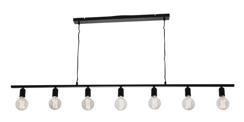 Industrial 7 Light Bar Pendant Light