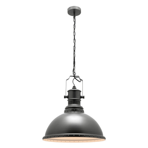 Painted Charcoal Industrial Pendant Light