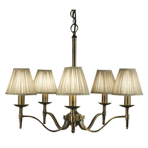 Stanford 5 Light Brass Chandelier