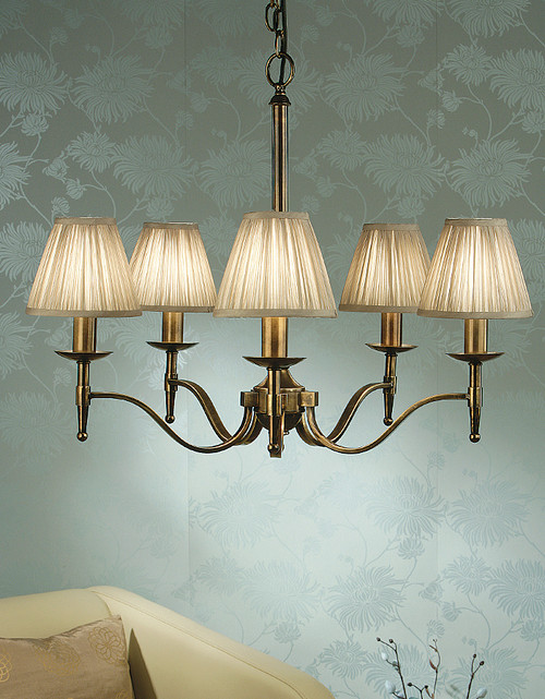 Stanford 5 Light Brass Chandelier by Viore Design