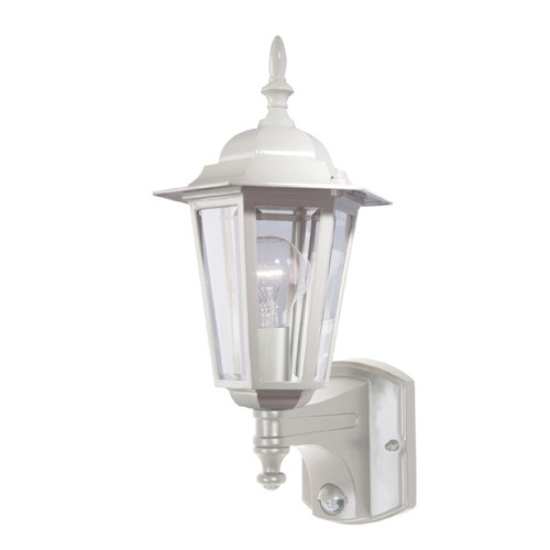 Tilbury Outdoor Wall Light with Sensor in White