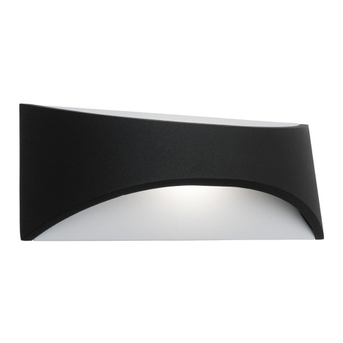 Wells LED Outdoor Wall Light in Black