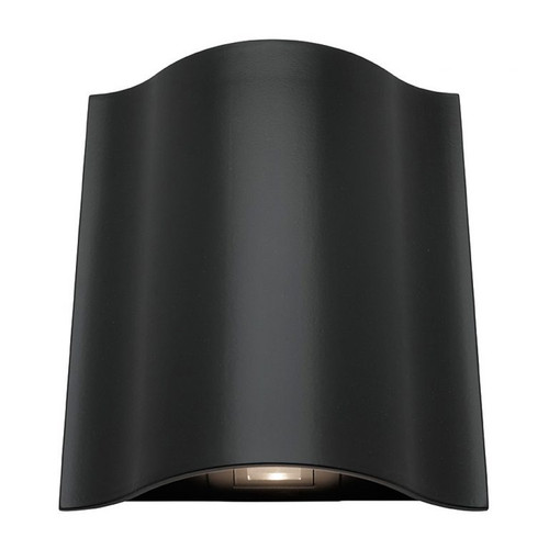 Arch LED Up and Down Exterior Wall Light in Black