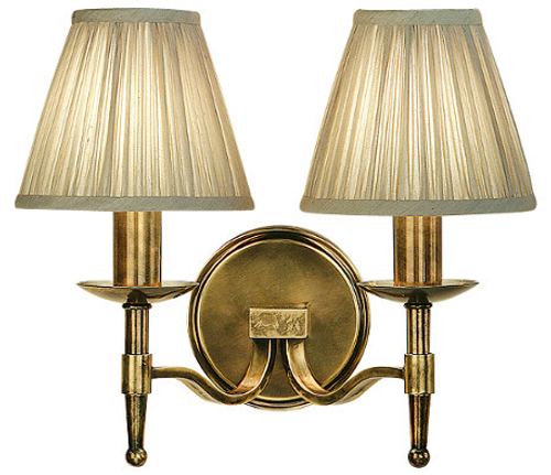 Stanford 2 Light Brass Wall Lamp