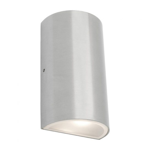 Brenton Round LED Outdoor Wall Light in Chrome