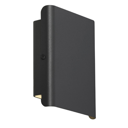 Dante Modern LED Up/Down Wall Light in Black