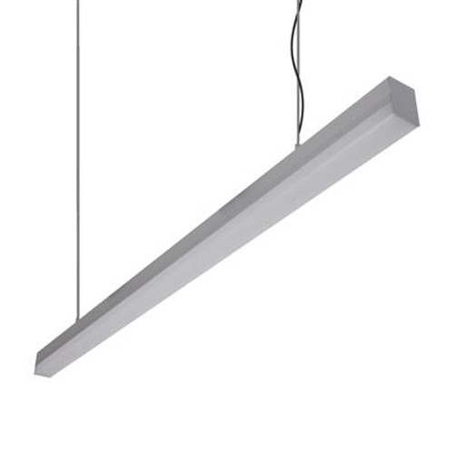 Bloc Linear Slim Pendant Light in Aluminum