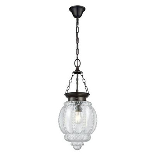 Modern Schoolhouse Lantern Pendant Light in Clear
