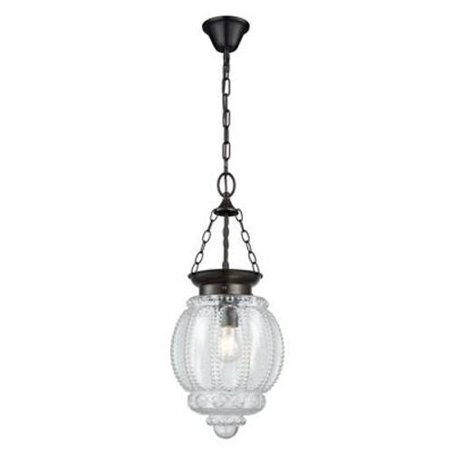 Modern Schoolhouse Lantern Pendant Light in Clear