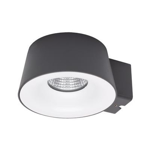 Cup LED Wall Light in Dark Grey