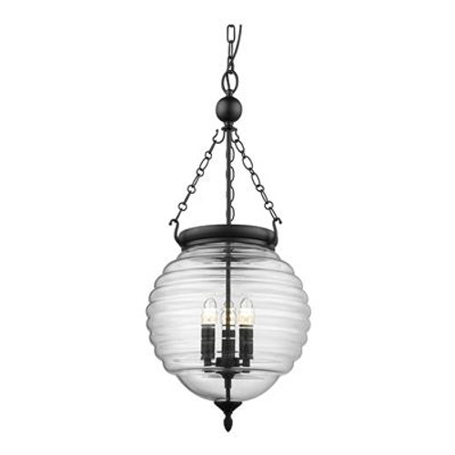 Erin Glass Jar Lantern Pendant Light