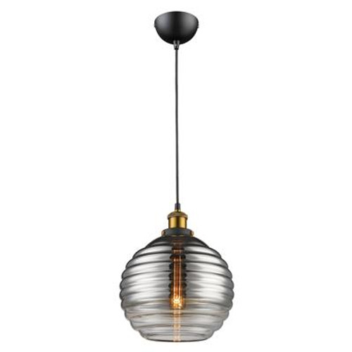Eva Glass Pendant Light in Grey