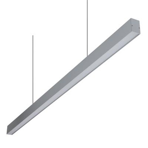 Lino 46 Linear Pendant Light in Aluminum