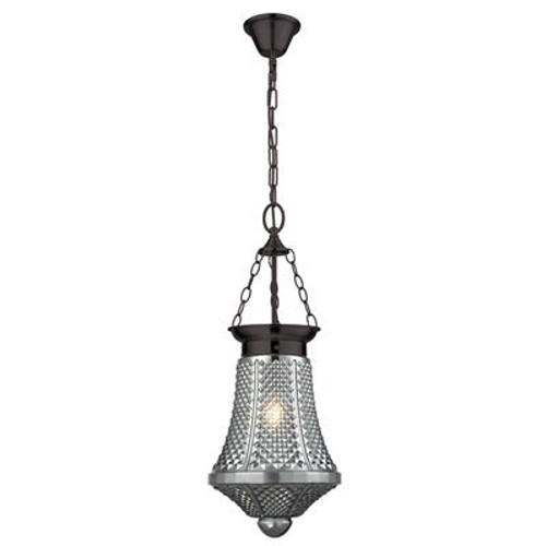 Maya Glass Lantern Pendant Light in Grey