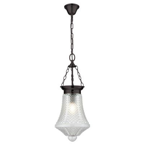 Maya Glass Lantern Pendant Light in Clear