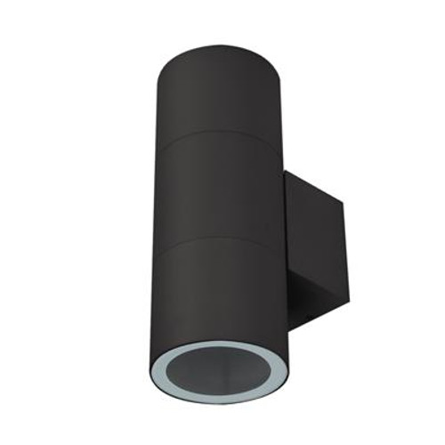 Piper Round Exterior Wall Light in Black