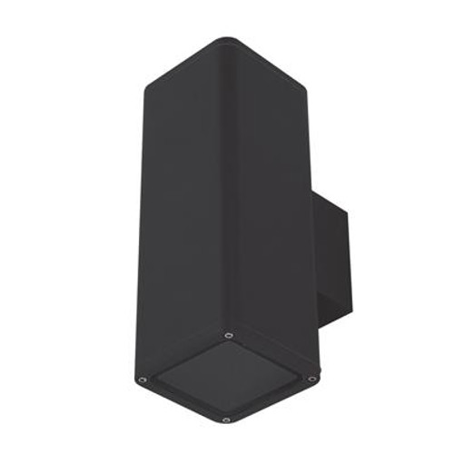 Piper Square Exterior Wall Light in Black