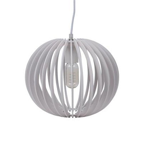 Puffin Timber Pendant Light in White