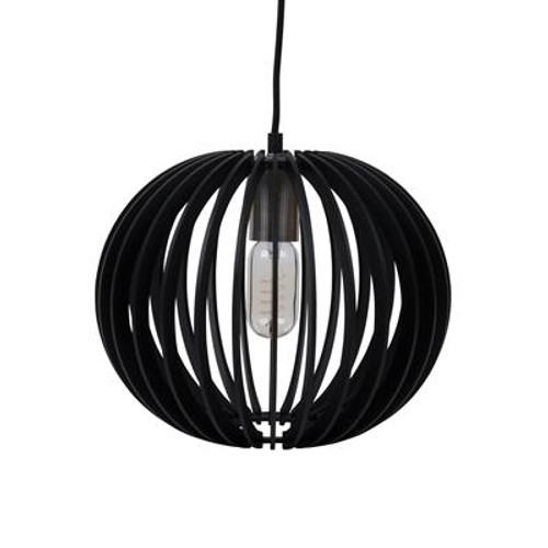 Puffin Timber Pendant Light in Black