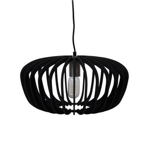 Robin Timber Pendant Light in Black