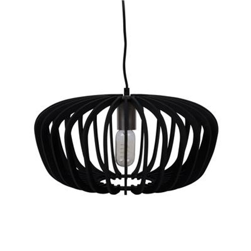 Robin Timber Pendant Light in Black