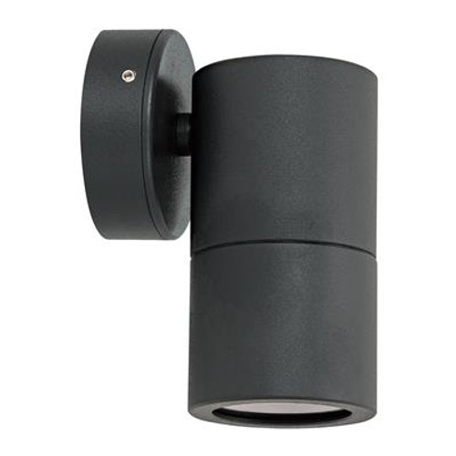 Shadow 1 Light Fixed Exterior Wall Light in Black