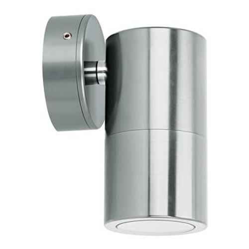 Shadow 1 Light Fixed Exterior Wall Light in Titanium Silver