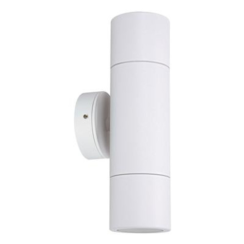 Shadow 2 Light Fixed Exterior Wall Light in White