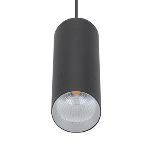 Star Slim Cylinder Pendant Light in Black - Small