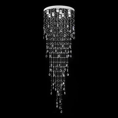 Raindrop Crystal LED Pendant