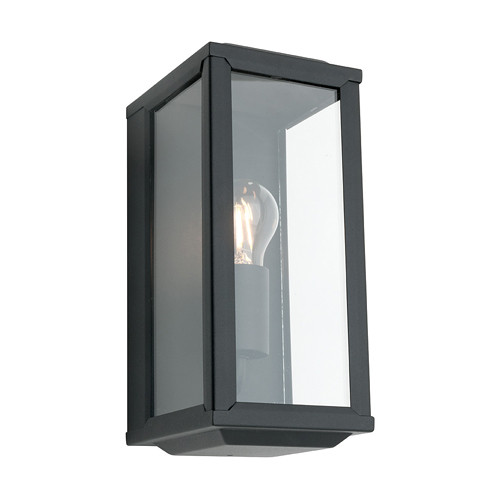 Angelsea Box Exterior Wall Light - Black