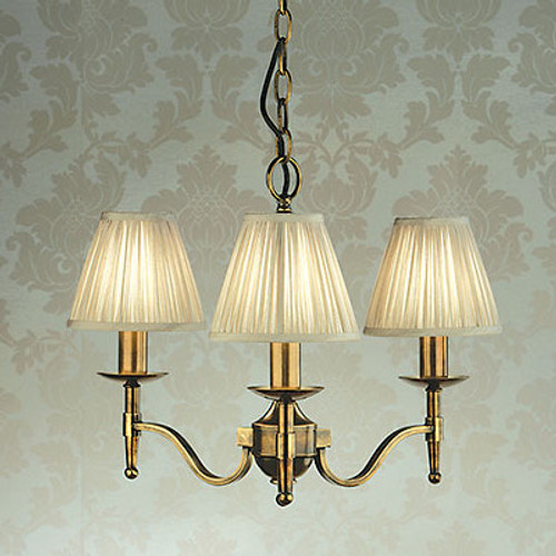 Stanford 3 Light Brass Chandelier