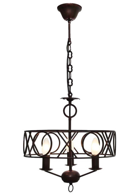 Cortanan 3 Light Rust Pendant Light