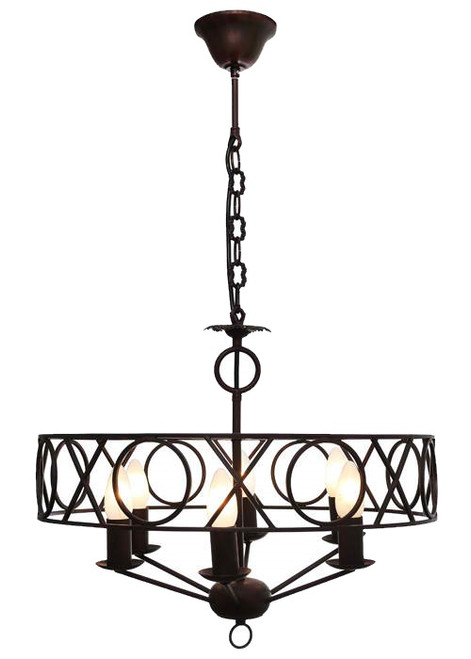 Cortanan 6 Light Rust Pendant Light