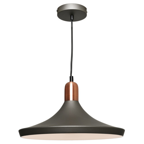 Dusty Industrial Pendant Light - Copper