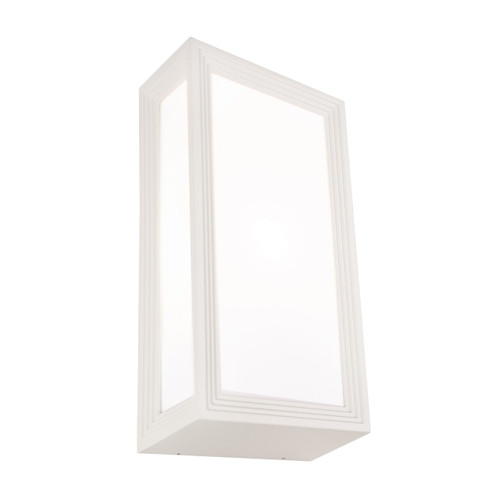 Lyon Opal Exterior Wall Light - White