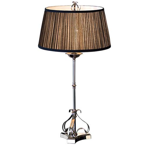Zoya Nickel Table Lamp - Black