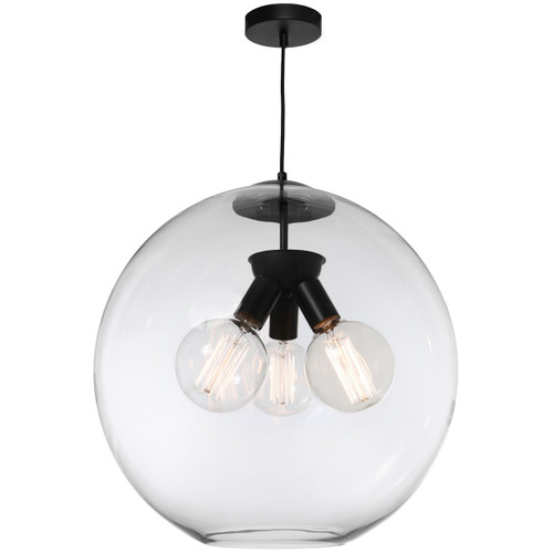 Orpheus 3 Light Glass Pendant Light