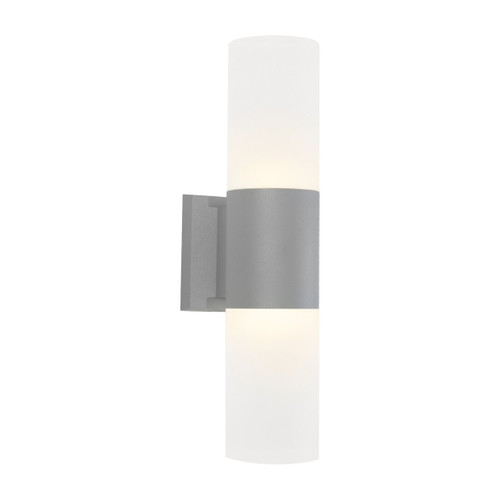 Ottawa 2 Light Exterior Wall Light - Silver