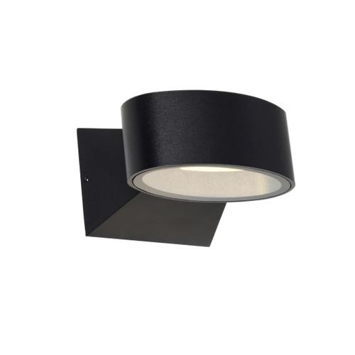 Quebec Oval Exterior Wall Light - Black
