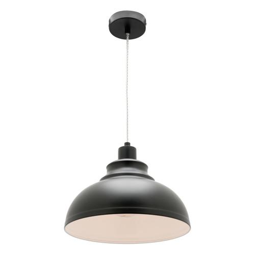 Risto Metal Dome Pendant Light - Black